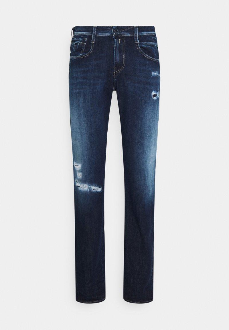Replay - ANBASS HYPERFLEX BROKEN&REPAIR - Slim fit jeans - dark blue