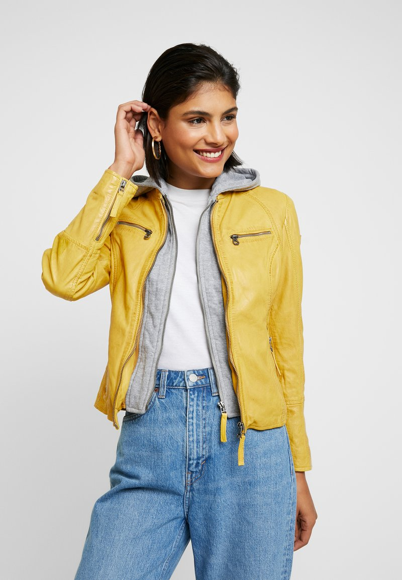 Gipsy - NOHLA - Leather jacket - yellow