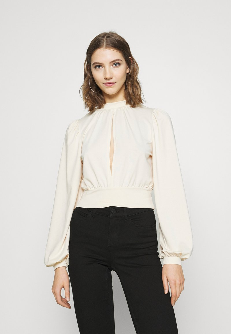 Nly by Nelly - KEYHOLE FRONT - Long sleeved top - champagne