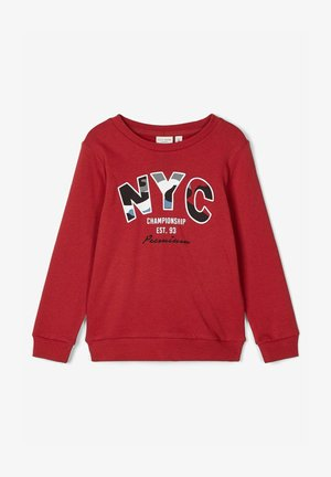 Sweatshirt - brick red