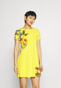 Desigual - LAS VEGAS - Jersey dress - yellow - 0
