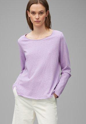 Long sleeved top - peached purple
