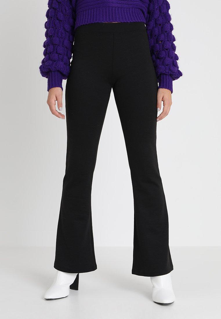 ONLY - ONLFEVER FLARED PANTS - Spodnie materiałowe - black