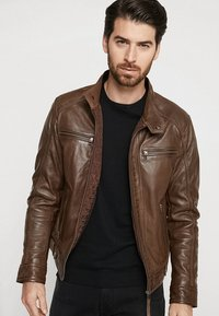 Serge Pariente - ERIC HOOD - Leather jacket - mocca - 3