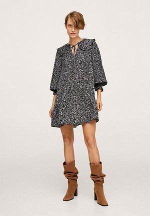 BEDRUCKTES BABYDOLL - Day dress - Zwart