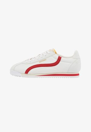 VEGAN RETRO TRACK RUNNER - Sneakers laag - ecru/red