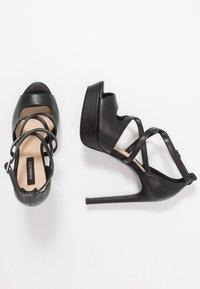 Even&Odd - LEATHER - Korolliset sandaalit - black - 3