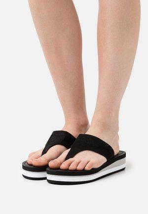 ELINA THONGS - T-bar sandals - black