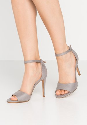 High heeled sandals - light grey