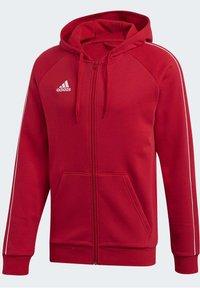 adidas Performance - CORE 19 HOODIE - Huvtröja med dragkedja - red - 9