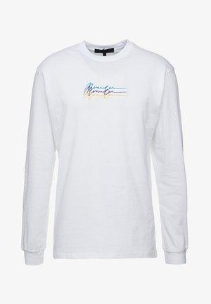 TRIPLE LONG SLEEEVE - Long sleeved top - white