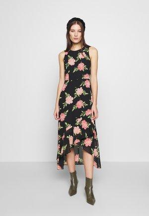 FLORAL HIGH LOW HEM MAXI DRESS - Sukienka letnia - black