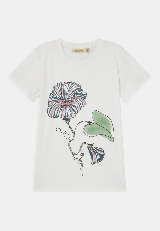 BASS  - T-shirt imprimé - snow white/primrose