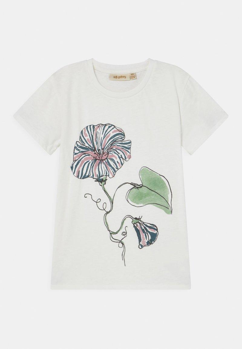 Soft Gallery - BASS  - Print T-shirt - snow white/primrose