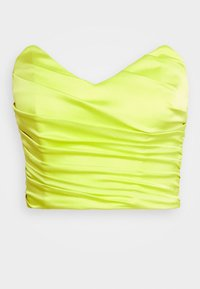 Missguided - ROUCHED SLEEVELESS CROP - Top - lime - 0