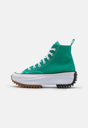 RUN STAR HIKE PLATFORM UNISEX - High-top trainers - court green/white