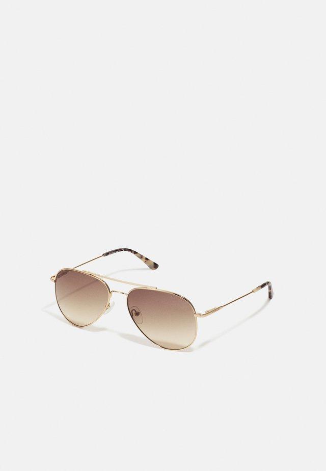 UNISEX - Sunglasses - gold-coloured/brown