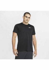 Nike Performance - DRY SUPERSET - T-paita - black/(white) - 0