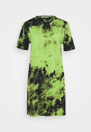 LADIES TIE DYE - Žerzejové šaty - lime