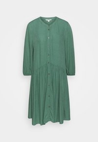 TOM TAILOR DENIM - WITH BUTTON DOWN PLACKET - Shirt dress - vintage green - 0