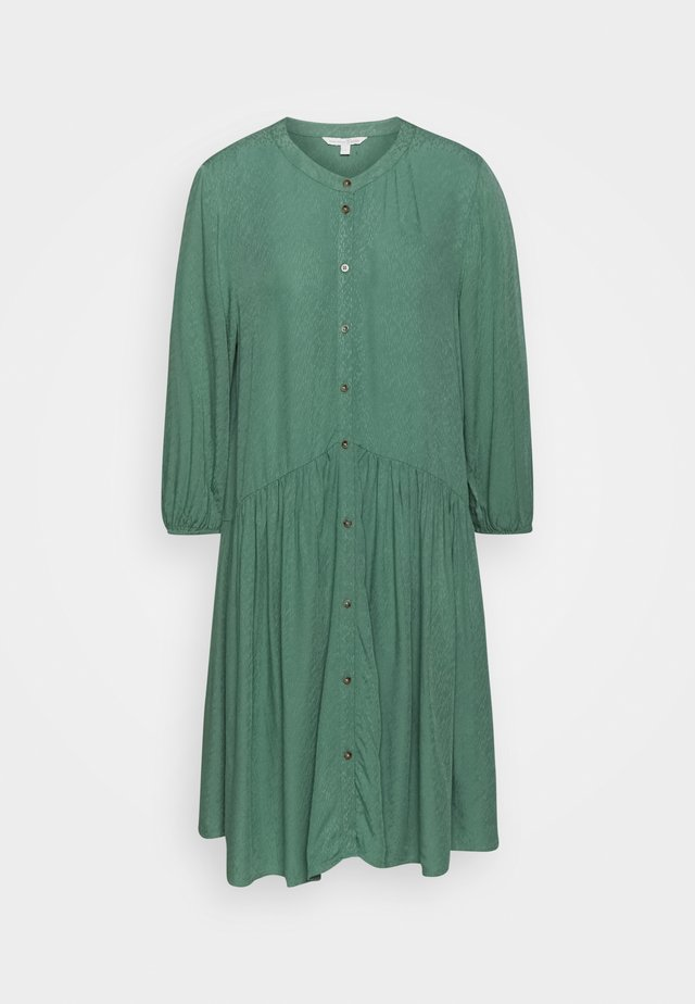 WITH BUTTON DOWN PLACKET - Blusenkleid - vintage green