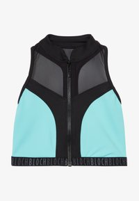 Bloch - GIRLS ZIP UP - Sports bra - blue radiance - 3