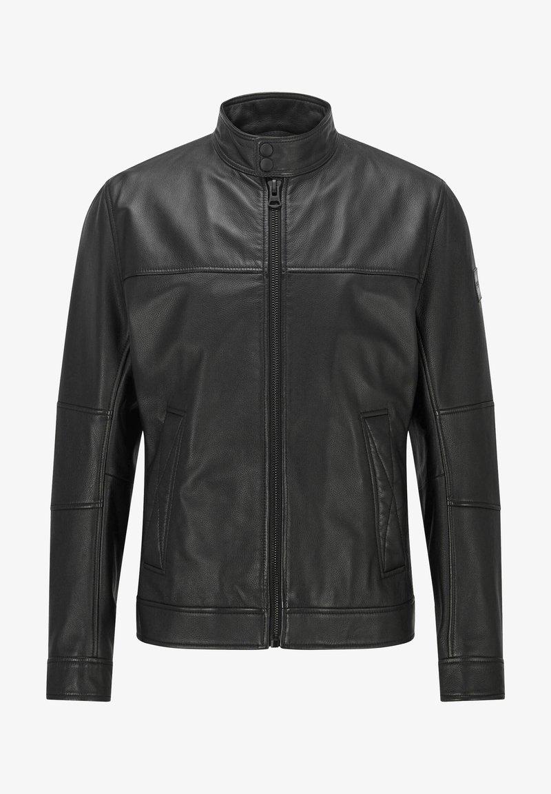 BOSS - Leather jacket - schwarz