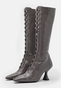 Jeffrey Campbell - Lace-up boots - grey - 2