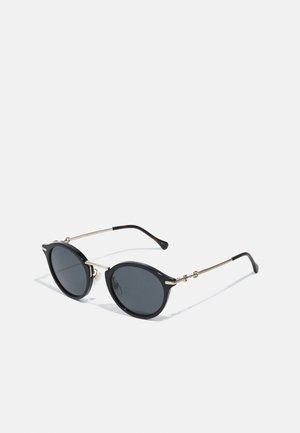 UNISEX - Sunglasses - black/gold-coloured/grey