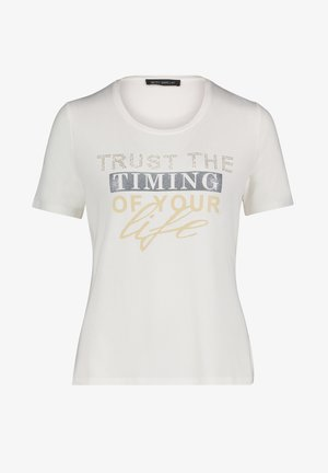 T-shirt imprimé - rohweiß
