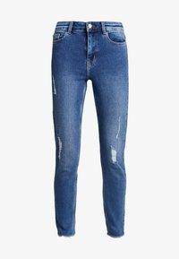 PCKAMELIA DESTROY - Jeans Skinny Fit - medium blue denim