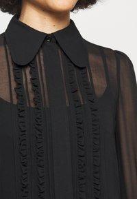 Victoria Beckham - FRILL DETAIL BLOUSE - Button-down blouse - black - 5