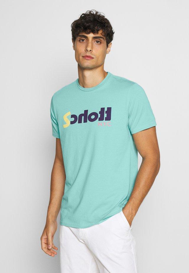 Printtipaita - turquoise
