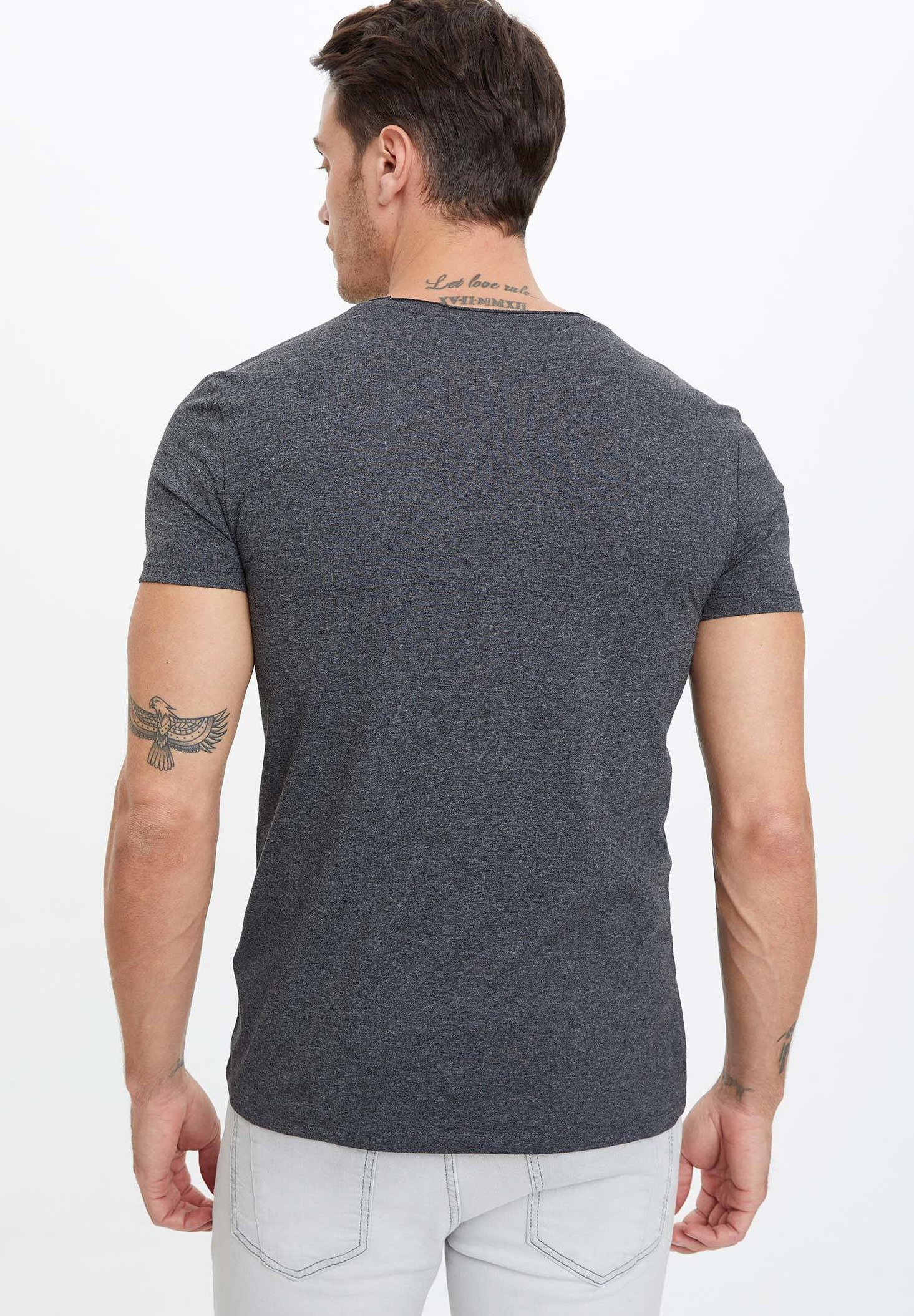 DeFacto Print T-shirt - anthracite 4w8gO