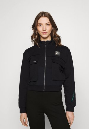 CROPPED - Zip-up hoodie - anthracite