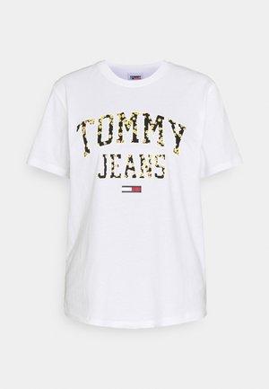 COLLEGIATE FLORAL TEE - Print T-shirt - white