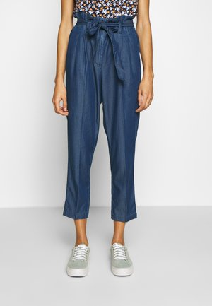 PAPERBAG PANTS - Trousers - blue