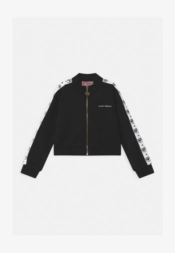 CROP KIDS TAPE - Zip-up sweatshirt - black