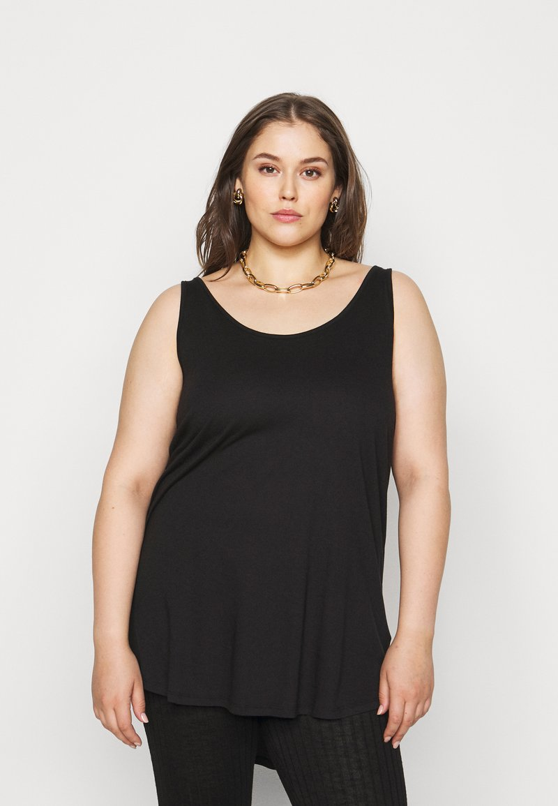 New Look Curves - CROSS BACK  - Top - black
