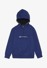 Champion - AMERICAN CLASSICS HALF ZIP HOODED - Hoodie - royal blue