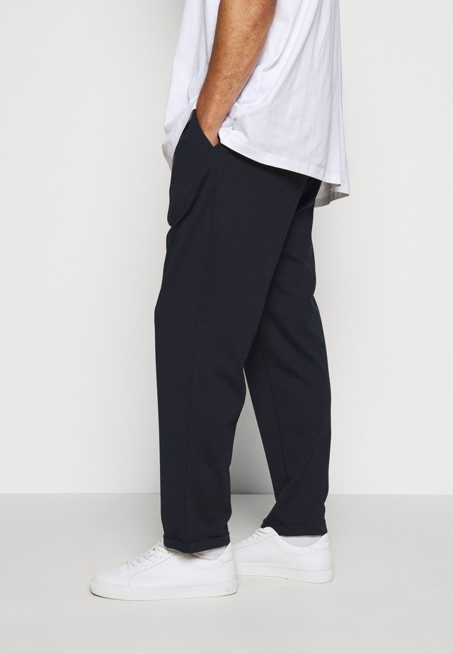EBERLEIN WITH ROLL UP - Bukse - navy