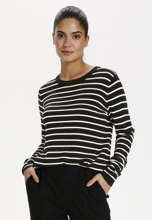 Strikpullover /Striktrøjer - black / chalk stripe