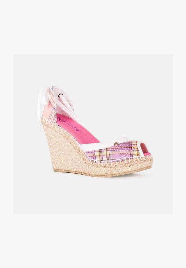 Sandalias de cuña - rosa claro