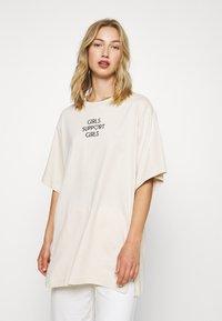 Monki - TORI TEE - T-shirts med print - white - 0