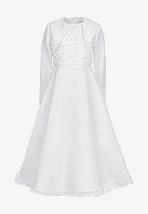 MIT SPITZENTOP UND ÄRMEL, INKL. BOLERO - Cocktailkleid/festliches Kleid - white