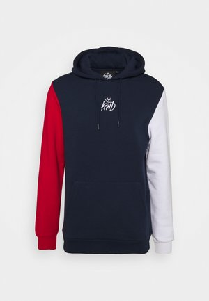 CANON TRI COLOUR HOOD - Sweatshirt - navy/red/white