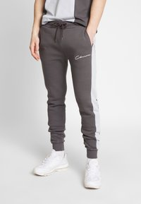 CLOSURE London - CONTRAST CUT SEW PANEL  - Tracksuit bottoms - grey - 0