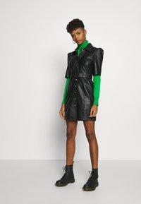 Object - OBJSTAR  DRESS  - Shirt dress - black - 1
