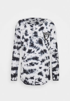 NFL OAKLAND RAIDERS TIE DYE LONG SLEEVE - Club wear - grey