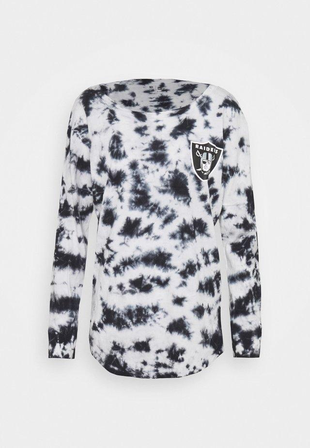 NFL OAKLAND RAIDERS TIE DYE LONG SLEEVE - Club wear - grey